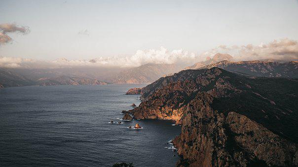Corsica, Sea, Landscape, Coast, Waters, Summer, Travel