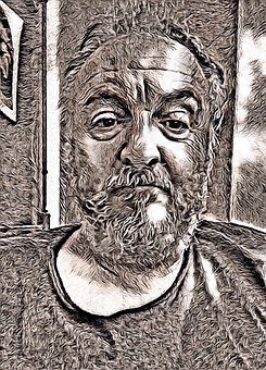 Old, Portrait, Man, Male, Solitude