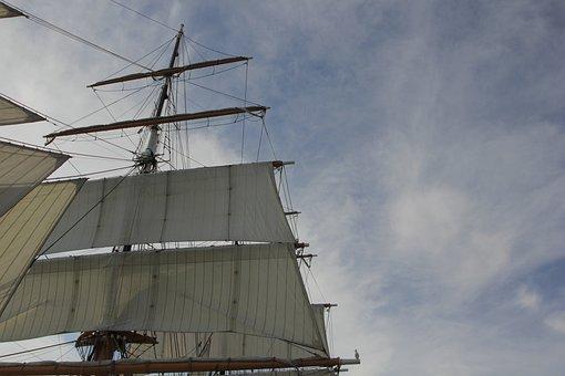 Mast, Ship, Sun, Nautical, Maritime, Sail, Boat