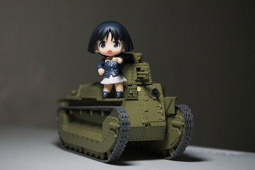 Tank, Type, 89, Toy, Figurine, Model, Plastic, Girls