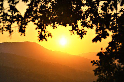 Sunset, Landscape, Nature, Sky, In The Evening, Solar