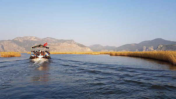 Boat, Turkey, Tour, Tourism, Sunset, Nature, Dalyan