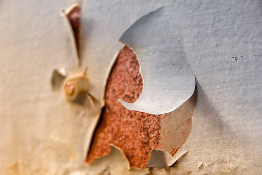 Corrosion, Paint, Flake, Metal, Iron, Structure, Old