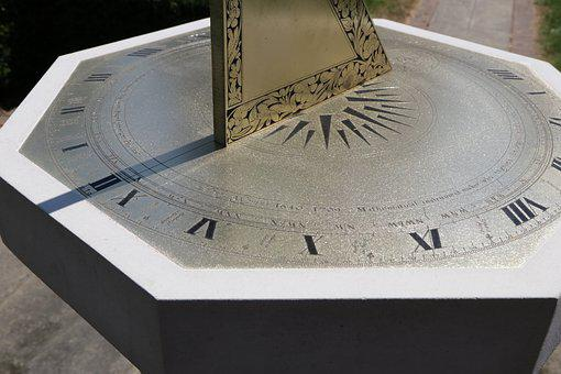 Sundial, Sun Dial, Manor House, Pedestal, Time