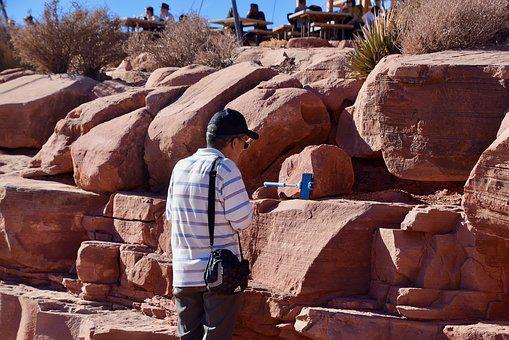 Bag, Cap, Hat, Man, People, Smartphone, Face Time