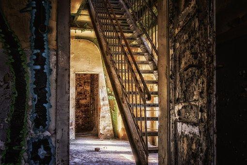 Stairs, Iron, Steep, Gradually, Rise, Railing, Metal