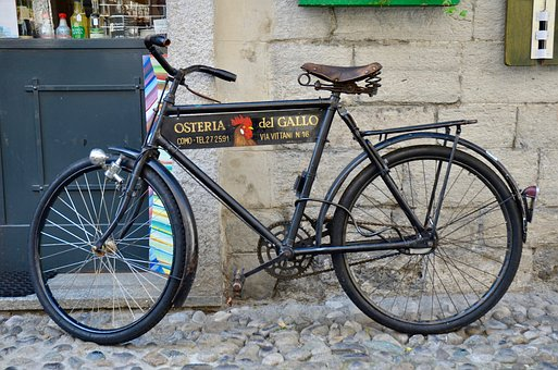 Bike, Cycling, Traffic, Antique, Old, Renovated, Road