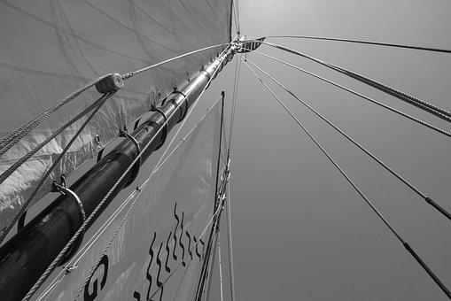 Vela, Boat, Sailing Ship, Sea, Wind, Marina, Top, Rope