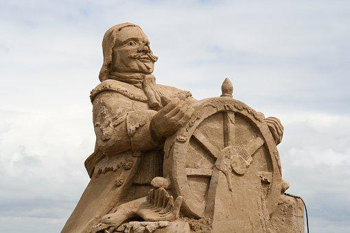 Netherlands, Sea, Naval Hero, Water, Sand Sculpture
