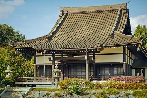Temple, Japanese, Asia, Architecture, Zen, Shinto