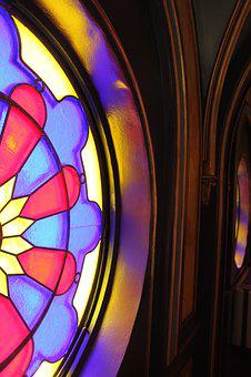 Strait, Colorful, Window, Stained Glass, Church