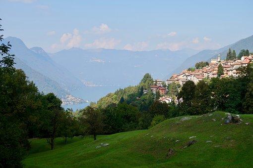 Bergdorf, Italy, Lake, Vacations, Village, Landscape