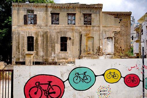 Building, Facade, Ancient, War, Bullet, Impact, Beirut