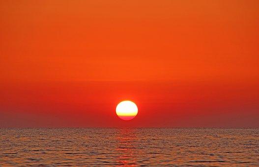 Sunset, Mediterranean, Abendstimmung, Sea, Water