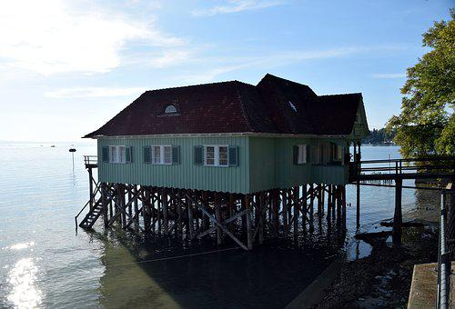 Lake Constance, Lindau, Water House, Water, Lake