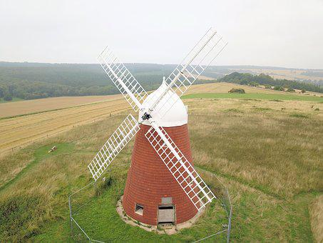 Windmill, Wind Mill, Sails, Sweeps, Chichester