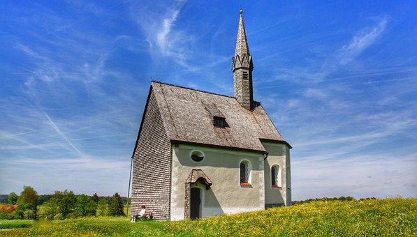 Church, Nature, Landscape, Sky, Architecture, Clouds