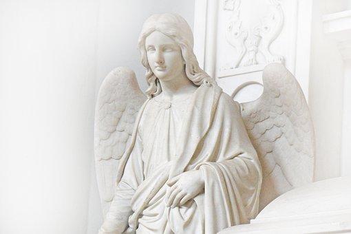 Angel, Statue, Sculpture, Figure, Guardian Angel, Art