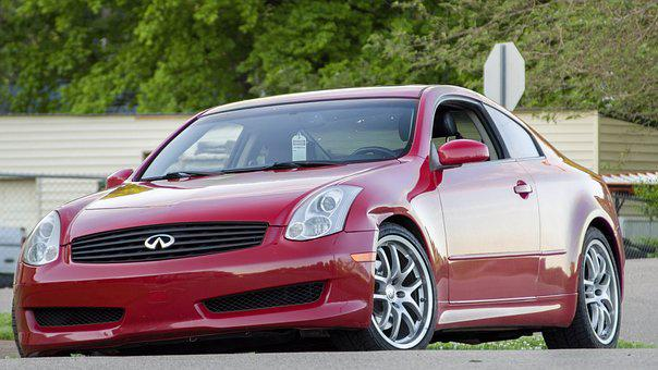 G35, Infiniti, Car, Coupe, Red, Sporty, Automobile