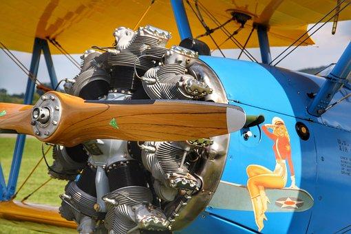 Aircraft, Motor, Aviation, Propeller, Sky, Wing