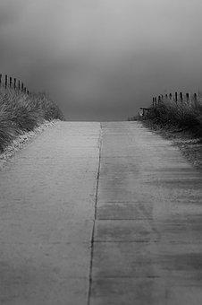 Away, Mourning, Sw, B W, Landscape, Nature, Alone