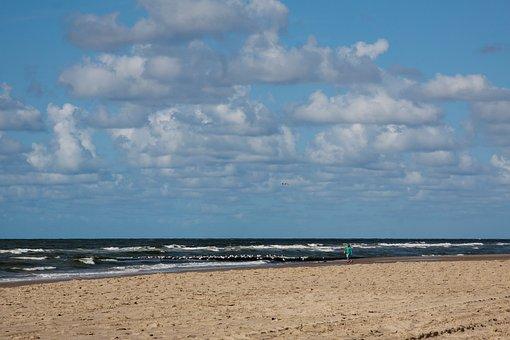 Beach, Sea, North Sea, Vacations, Water, Summer, Coast