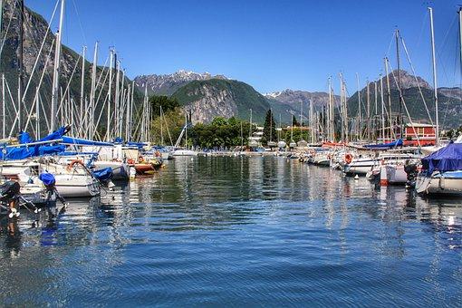 Garda, Ships, Italy, Water, Boat, Port, Vacations, Lake