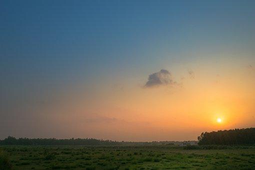 Sky, Landscape, Clouds, Nature, Sunset, Scenic, Mood