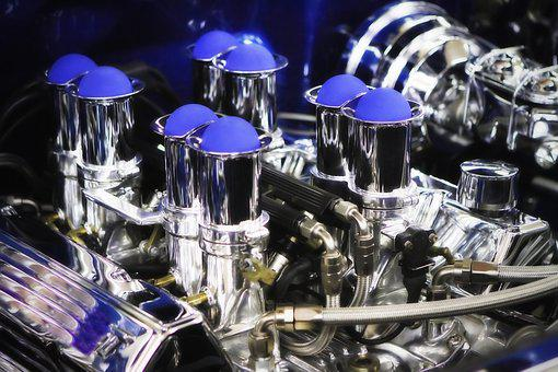 Photo, Color Engine, Valve Covers, Injectors, Chrome