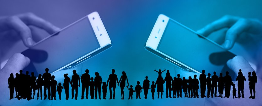 Social Media, Smartphone, Crowd, Human, Communication
