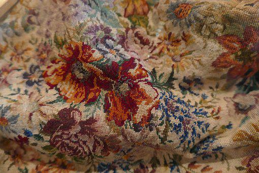 Embroidery, Embroider, Crafts, Textile, Old, Antique