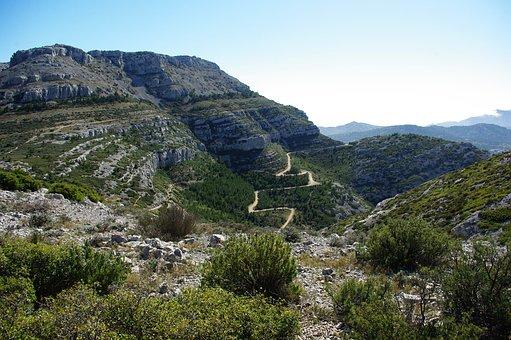 Creeks, Marseille, Sea, Landscape, Path, Limestone