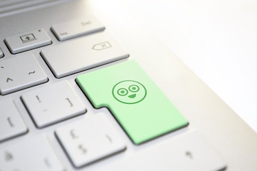 Keyboard, Smiley, Happy, Enter, Button, Communication