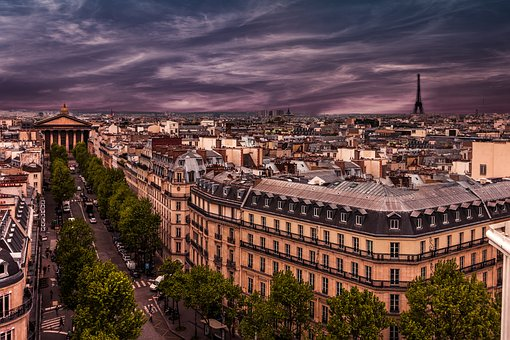 Paris, Evening, France, Color, Atmosphere, Symbol