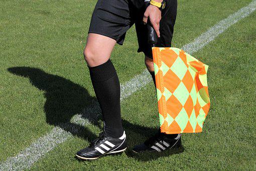 Football, Referee, Lin, Sport, Official, Football Match
