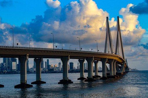 Rajiv, Gandhi, Bandra-worli, Sea, Link, Mumbai