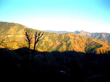 Hill, Evening, Sunset, Landscape, Nature