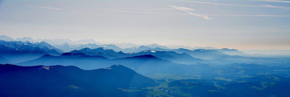 Alpine, Bavaria, Fog, Aerial View, Inversion, Landscape