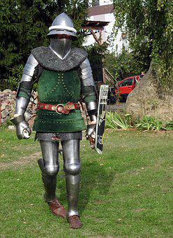 Knight, Armor, The Middle Ages, Warrior, Metal, Sword