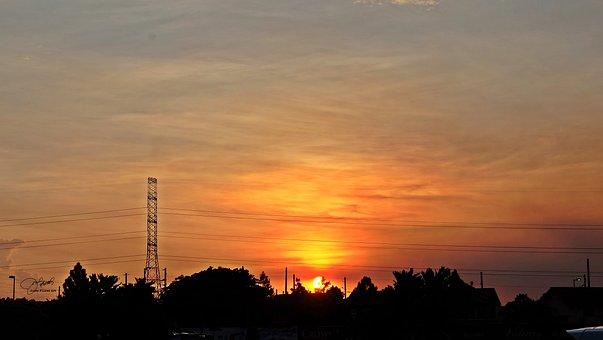 Sunset, Sun, Sky, Landscape, Dawn, Nuvali, Philippines
