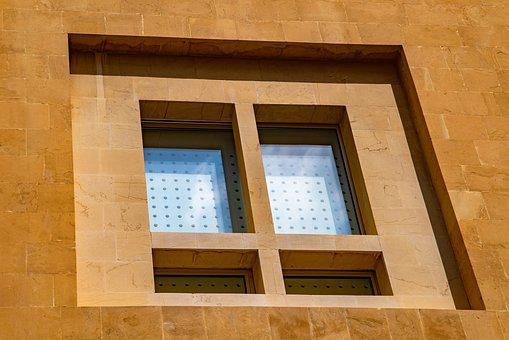 Window, Windows, Wall, Stone, Modern, Contemporary