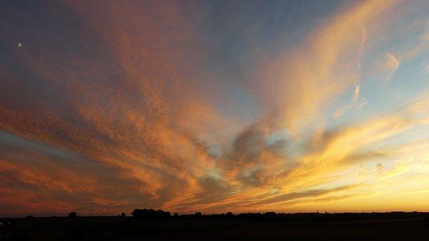 Nature, Sky, Clouds, Twilight, Evening