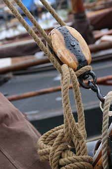 Netherlands, Elburg, Botter, Pulley, Boat, Sailing