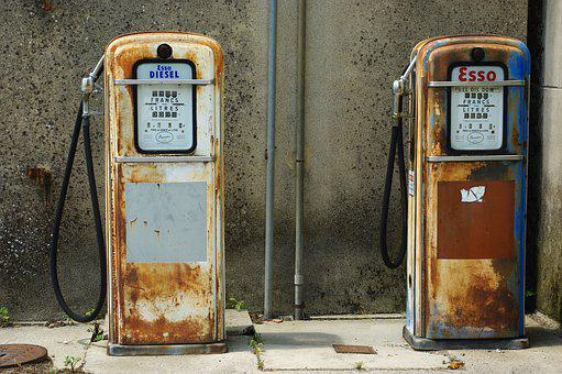 Pump, Gasoline, Former, Chf, Rust, Disuse, Abandoned