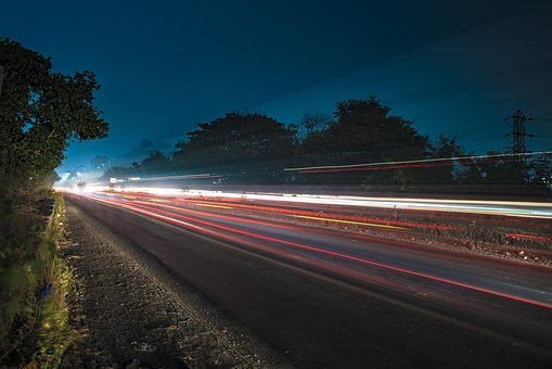Light Trail, Light, Traffic Light, Blue Sky, Road Light