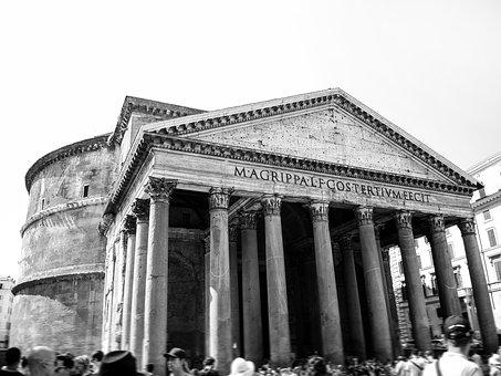 Pantheon, Italy, Roma, Rome, Architecture, Ancient