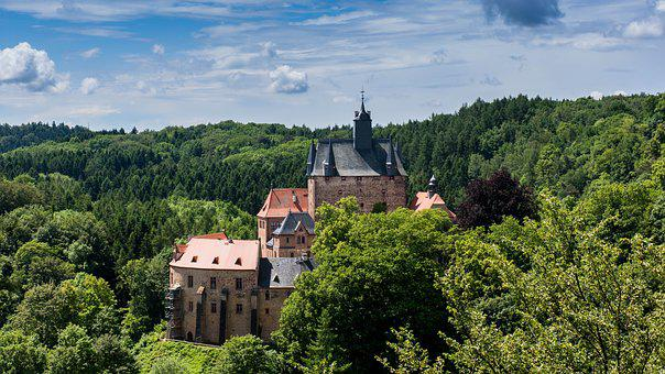Saxony, Castle, Kriebstein, Historically