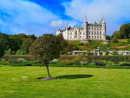 Castle Glamis, Scotland, Imposing, Architecture, Sky