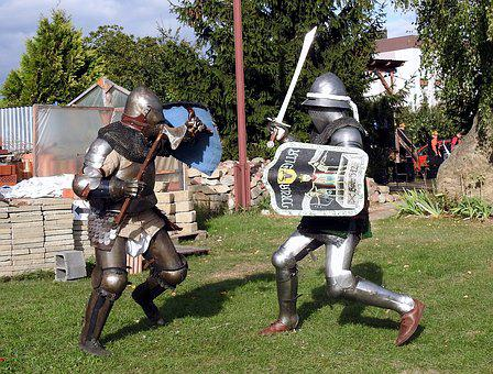Knights, Armor, Knight, Fight, Joust, Sword, Shield