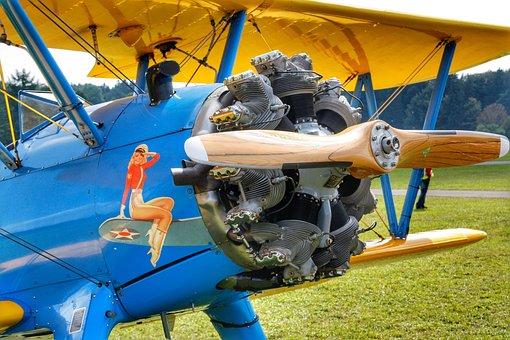 Aircraft, Motor, Aviation, Propeller, Flying, Sky